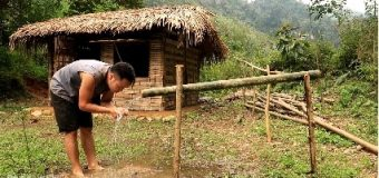 Irrigation, Water supply by bamboo tube for farming and living